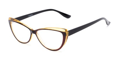Angle of The Venus in Brown, Women's Cat Eye Reading Glasses