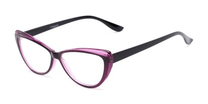Angle of The Venus in Purple, Women's Cat Eye Reading Glasses