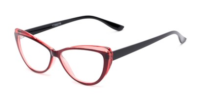 Angle of The Venus in Red, Women's Cat Eye Reading Glasses