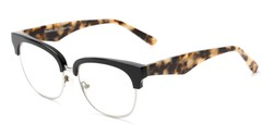 Angle of The Versailles Signature Reader in Black/Tortoise, Women's Browline Reading Glasses