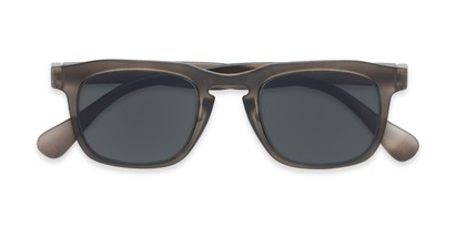 Folded of The Vinton Reading Sunglasses in Grey with Smoke