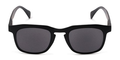 Front of The Vinton Reading Sunglasses in Black with Smoke
