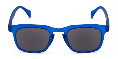 Front of The Vinton Reading Sunglasses in Blue with Smoke