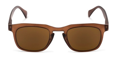 Front of The Vinton Reading Sunglasses in Brown with Amber