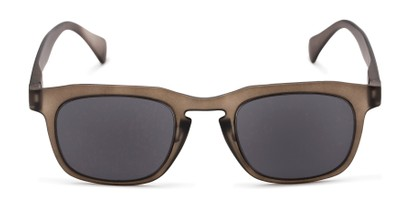Front of The Vinton Reading Sunglasses in Grey with Smoke