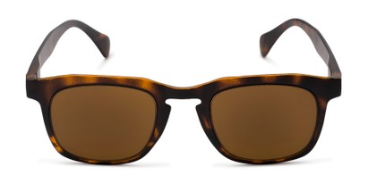 Front of The Vinton Reading Sunglasses in Tortoise with Amber