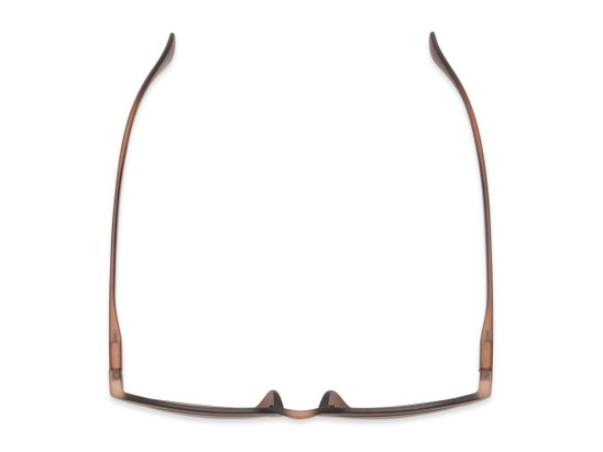 Overhead of The Vinton Reading Sunglasses in Brown with Amber