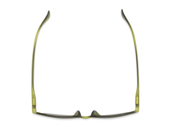 Overhead of The Vinton Reading Sunglasses in Green with Smoke