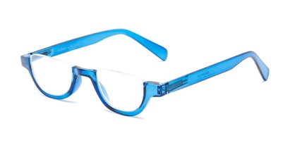 Angle of The Von in Glossy Blue, Women's and Men's Round Reading Glasses