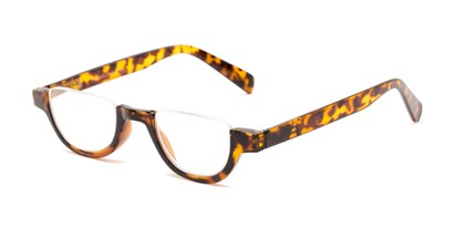Angle of The Von in Glossy Tortoise, Women's and Men's Round Reading Glasses