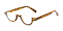 Angle of The Von in Matte Tortoise, Women's and Men's Round Reading Glasses