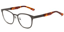 Angle of The Warwick Signature Reader in Silver/Tortoise, Women's and Men's Square Reading Glasses