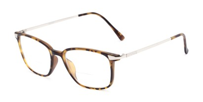 Angle of The Wetherford Bifocal in Tortoise/Silver, Women's and Men's Retro Square Reading Glasses