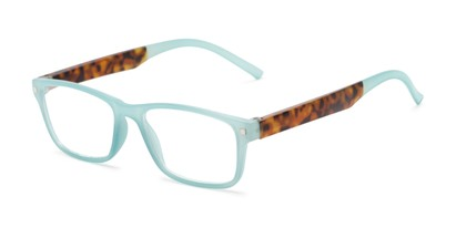 Angle of The Wheat in Blue/Tortoise, Women's Rectangle Reading Glasses