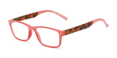 Angle of The Wheat in Red/Tortoise, Women's Rectangle Reading Glasses