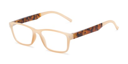 Angle of The Wheat in Tan/Tortoise, Women's Rectangle Reading Glasses