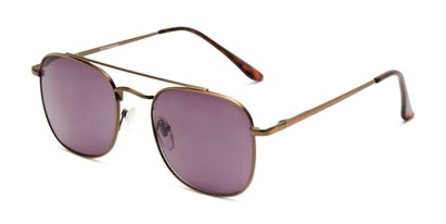 Angle of The Whitford Reading Sunglasses in Bronze with Smoke, Men's Aviator Reading Sunglasses