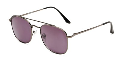 Angle of The Whitford Reading Sunglasses in Gunmetal with Smoke, Men's Aviator Reading Sunglasses