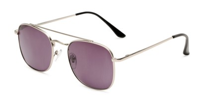 Angle of The Whitford Reading Sunglasses in Silver with Smoke, Men's Aviator Reading Sunglasses