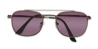 Folded of The Whitford Reading Sunglasses in Gunmetal with Smoke