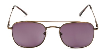Front of The Whitford Reading Sunglasses in Bronze with Smoke