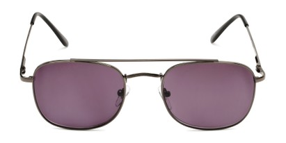 Front of The Whitford Reading Sunglasses in Gunmetal with Smoke