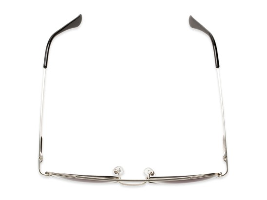 Overhead of The Whitford Reading Sunglasses in Silver with Smoke
