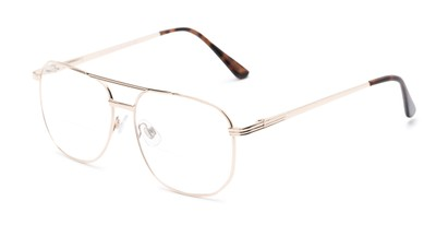 Angle of The Whitman Bifocal in Gold, Women's and Men's Aviator Reading Glasses
