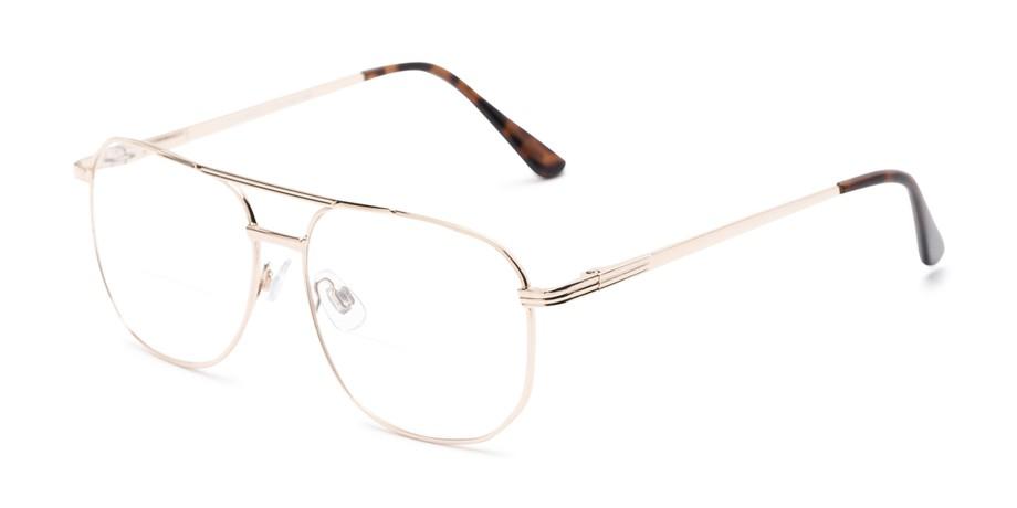 f73ac85302c Metal Aviator Bifocal Reading Glasses