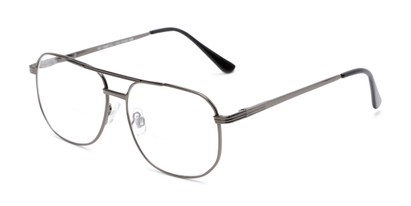 Angle of The Whitman Bifocal in Grey, Women's and Men's Aviator Reading Glasses