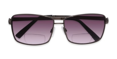 Folded of The Wilde Bifocal Reading Sunglasses in Grey with Smoke