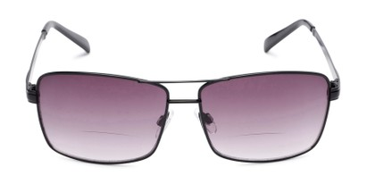 Front of The Wilde Bifocal Reading Sunglasses in Black with Smoke