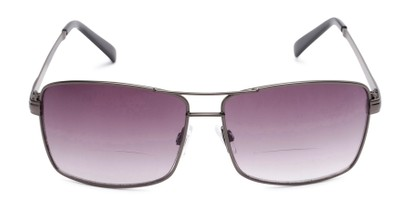 Front of The Wilde Bifocal Reading Sunglasses in Grey with Smoke