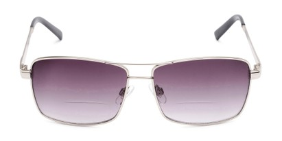Front of The Wilde Bifocal Reading Sunglasses in Silver with Smoke