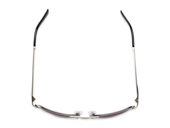Overhead of The Wilde Bifocal Reading Sunglasses in Silver with Smoke