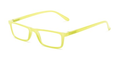 Angle of The Wilhelmina in Lime Green, Women's Rectangle Reading Glasses
