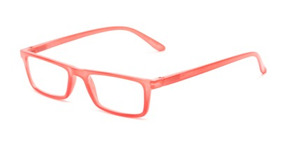 Angle of The Wilhelmina in Red, Women's Rectangle Reading Glasses