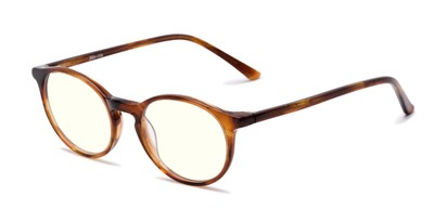 Angle of The Windsor Blue Light Blocking Reader in Brown Tortoise, Women's and Men's Round Reading Glasses