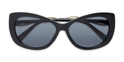 Folded of The Wink Bifocal Reading Sunglasses in Black with Smoke
