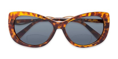 Folded of The Wink Bifocal Reading Sunglasses in Tortoise with Smoke