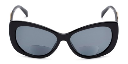 Front of The Wink Bifocal Reading Sunglasses in Black with Smoke