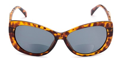 Front of The Wink Bifocal Reading Sunglasses in Tortoise with Smoke