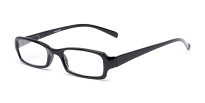 Angle of The Wonder in Black, Women's and Men's Rectangle Reading Glasses