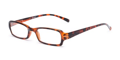 Angle of The Wonder in Tortoise, Women's and Men's Rectangle Reading Glasses