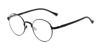 Angle of The Woodrow in Black, Women's and Men's Round Reading Glasses