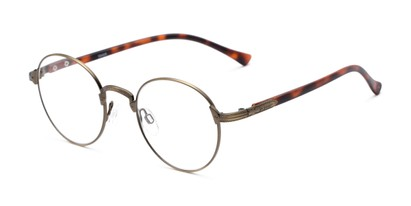 Angle of The Woodrow in Bronze/Tortoise, Women's and Men's Round Reading Glasses
