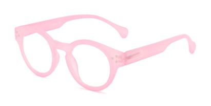Angle of The Wynn Computer Reader in Pink, Women's and Men's Round Reading Glasses