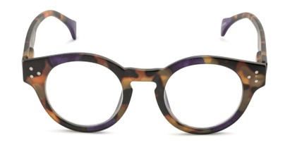 Front of The Wynn Blue Light Reader in Purple/Tortoise