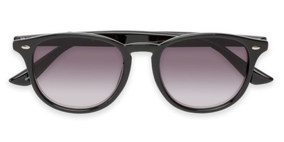 Folded of The Zane Reading Sunglasses in Black with Smoke