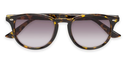 Folded of The Zane Reading Sunglasses in Yellow Tortoise with Smoke